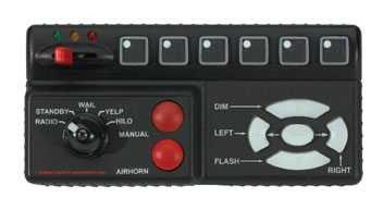 Code 3 Remote Lighted Siren Control Head Only Replacement