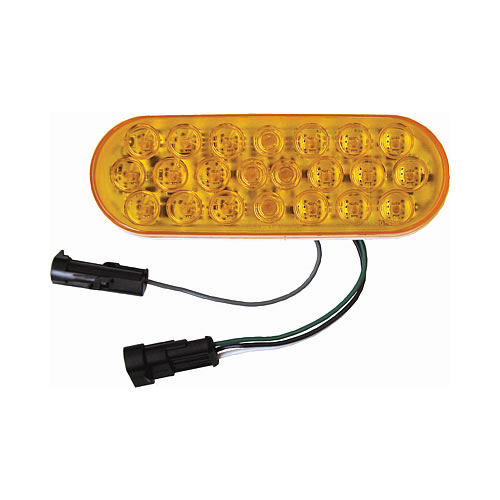 Peterson 4353A 1 Piranha LED Oval Strobe Rear Turn Signal Curbside High With Hardshell Connector