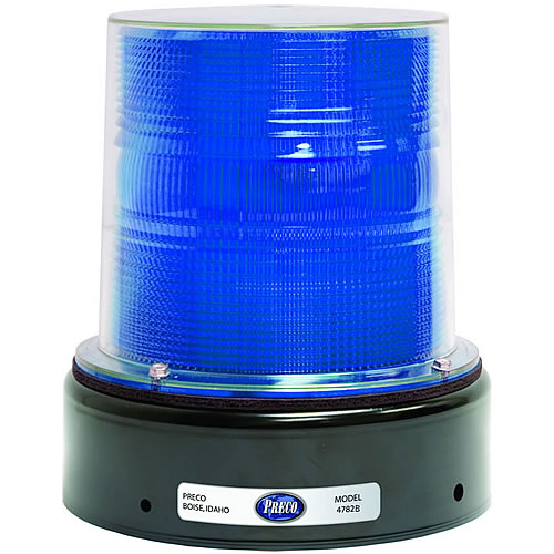 Preco Strobe Beacon 12-48V 17/21 joule 80FPM double/quad flash J-Bolt blue - 4782B