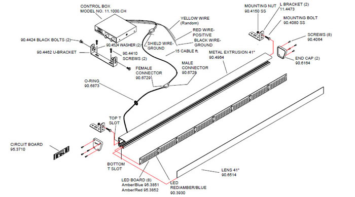 wiring 3 wire led strobe lights within diagram wiring and