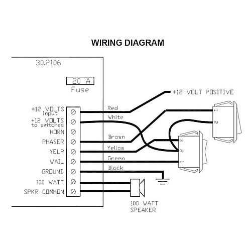 30 2106_diagram me 30 series three function undercover siren 30 2106 sho-me siren wiring diagram at gsmx.co