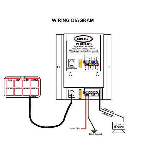31 2515_diagram me 31 series undercover siren with mini controller 31 2515 sho me light bar wiring diagram at bayanpartner.co