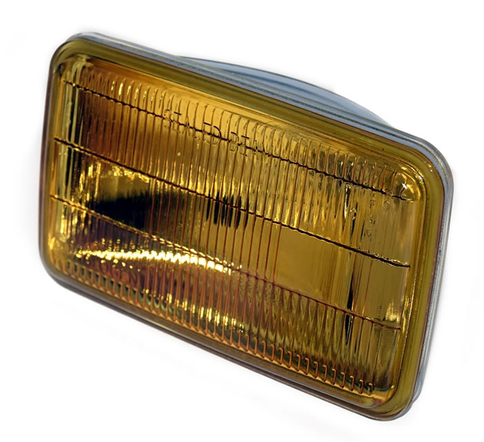 Unity USA Rectangular Amber Halogen Sealed Beam Foglamp- U-H9415A
