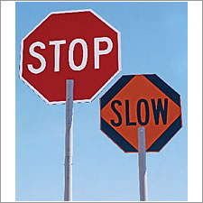 USA Sign STOP/SLOW Sign Paddles