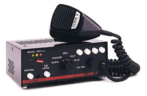 Code 3 V Con 174 Siren With Light Control Circuits 3692l4