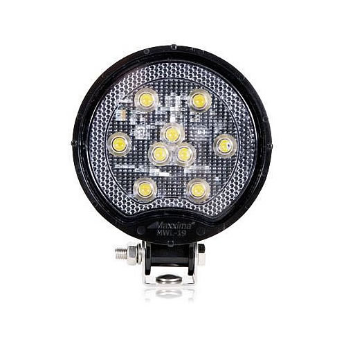 Maxxima 9 Led Round 500 Lumens Work Light Black Mwl 19
