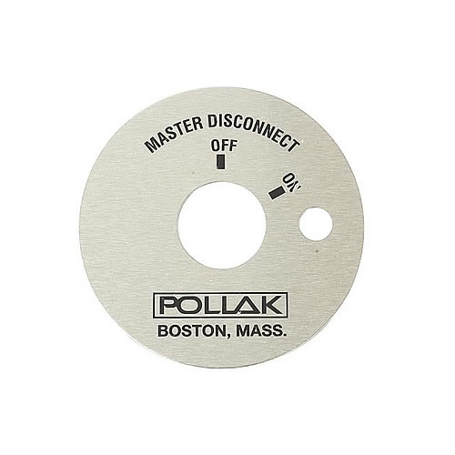 Pollak 51-322 Battery Master Disconnect Switches- Accessory Face Plate