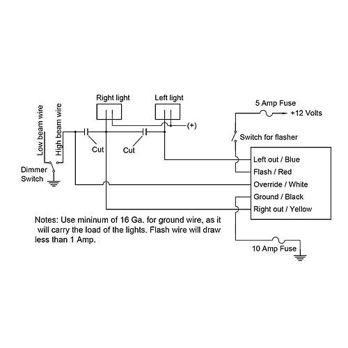 Wiring Diagram For Galls Headlight, Wig Wag Wiring Diagram