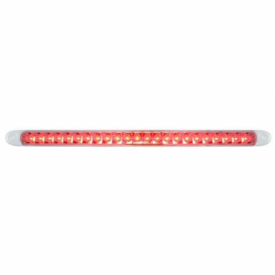 United Pacific 37513 23 LED 17 1//4 Reflector Stop Turn /& Tail Light Bar W//Bezel Red LED//Clear Lens